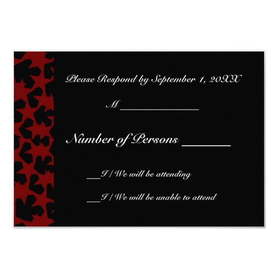 Novae Ebony (Red) RSVP Card