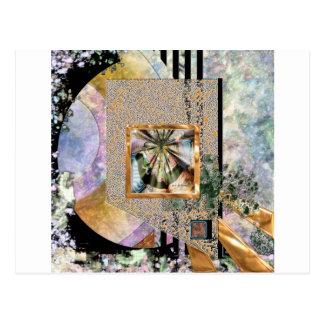 novas jade (square) postcard