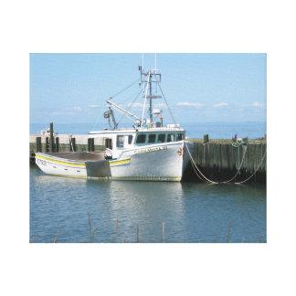 Novascotia westcoast fishingboat Hampton Canvas Print