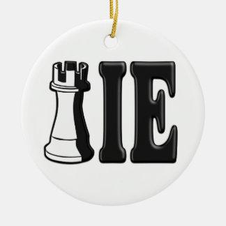 NOVATO (pedazo de ajedrez del grajo + IE) Ornamento De Navidad