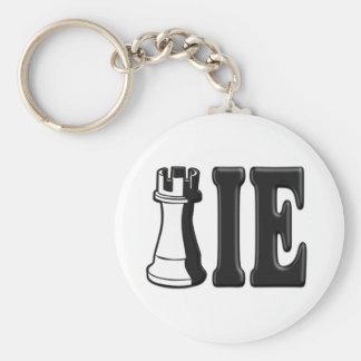 NOVATO (pedazo de ajedrez del grajo + IE) Llavero Redondo Tipo Pin