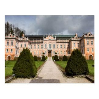 Nove Hrady Castle, Bohemia, Czech Postcard