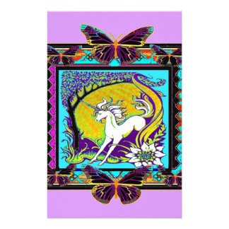 Noveau Unicorn Western Designs by Sharles Stationery