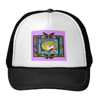 Noveau Unicorn Western Designs by Sharles Trucker Hat