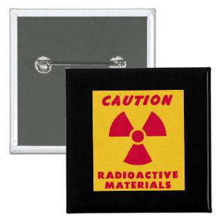 Novedad de los materiales radioactivos pins