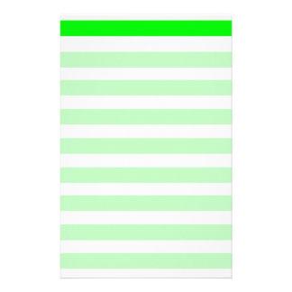 Novedad de neón del verde lima y blanca de las ray papelería de diseño
