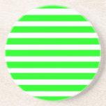 Novedad de neón del verde lima y blanca de las ray posavasos personalizados