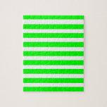 Novedad de neón del verde lima y blanca de las ray puzzle
