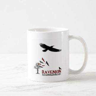 Novedad de Ravenkin Taza Básica Blanca