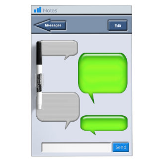 Novedad del mensaje de texto del teléfono celular tablero blanco