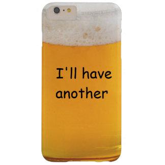 Novedad divertida de la cerveza funda de iPhone 6 plus barely there