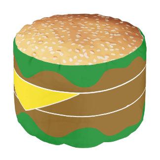 Novedad divertida de la hamburguesa puf redondo