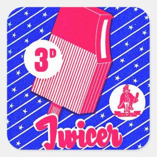 Novedad retra de la barra de helado de Twicer del Calcomanía Cuadradas