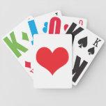 Novedad roja grande romántica, regalo de la divers baraja de cartas