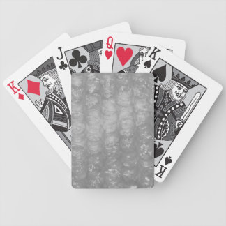 Novedad transparente Bubblewrap Baraja Cartas De Poker