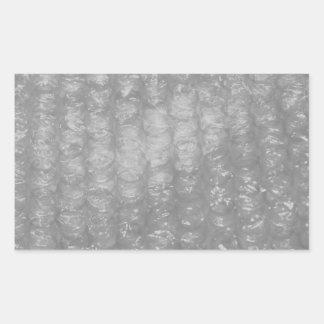 Novedad transparente Bubblewrap Rectangular Pegatina