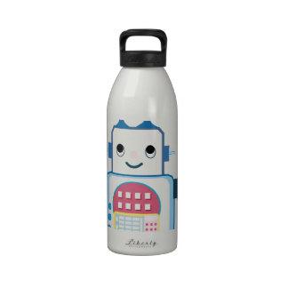 Novedades azules frescas de los regalos del robot botella de agua
