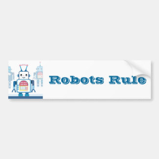 Novedades azules frescas de los regalos del robot pegatina de parachoque