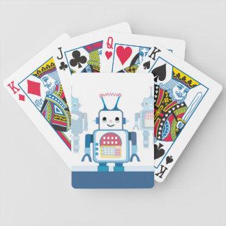 Novedades azules frescas de los regalos del robot baraja cartas de poker