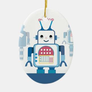 Novedades azules frescas de los regalos del robot ornatos