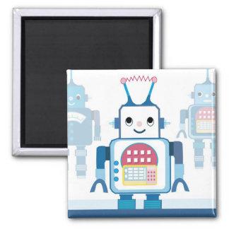 Novedades azules frescas de los regalos del robot imán cuadrado