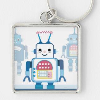 Novedades azules frescas de los regalos del robot llaveros