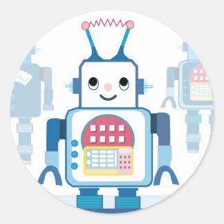 Novedades azules frescas de los regalos del robot pegatina