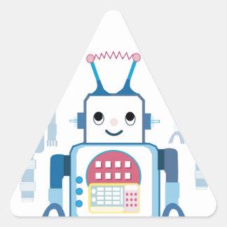 Novedades azules frescas de los regalos del robot pegatina triangular