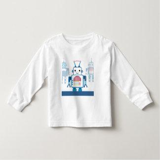Novedades azules frescas de los regalos del robot playeras