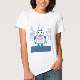 Novedades azules frescas de los regalos del robot poleras