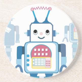 Novedades azules frescas de los regalos del robot posavasos personalizados