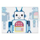 Novedades azules frescas de los regalos del robot tarjeta de felicitación