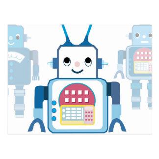 Novedades azules frescas de los regalos del robot tarjeta postal