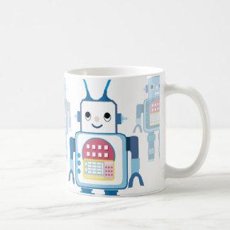 Novedades azules frescas de los regalos del robot taza