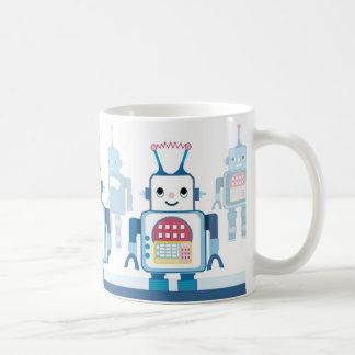 Novedades azules frescas de los regalos del robot taza clásica