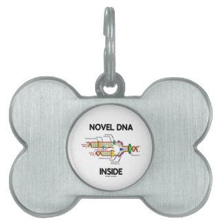Novel DNA Inside (Molecular Biology Humor) Pet Name Tags