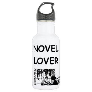 novel lover 18oz water bottle