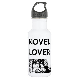novel lover water bottle