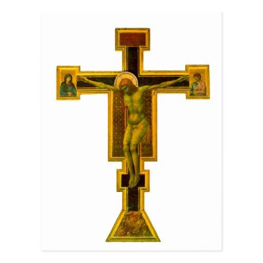 Novela corta de Firenze Santa María, crucifijo Postales
