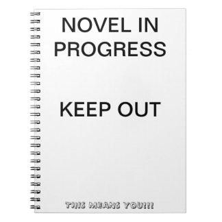 Novela en Progreso-Blanco Libro De Apuntes Con Espiral