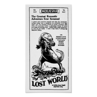 Novela perdida 1925 de Arthur Conan Doyle del mund Póster