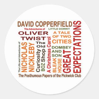 Novelas de Charles Dickens Etiqueta Redonda