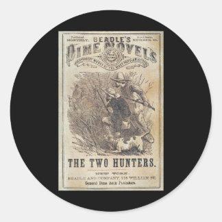 Novelas de moneda de diez centavos de los pegatina redonda