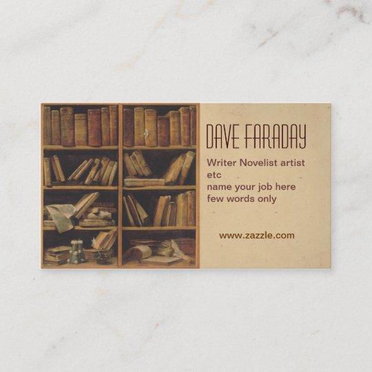 novelist book writer author business card - Author Business Cards