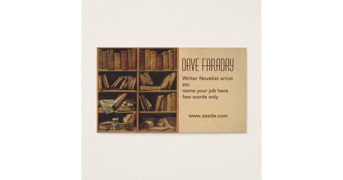 novelist book writer author business card   Zazzle.com
