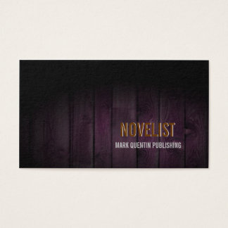 NOVELIST Business Card Dark Wood