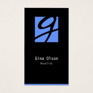 Novelist Business Card Monogram Block