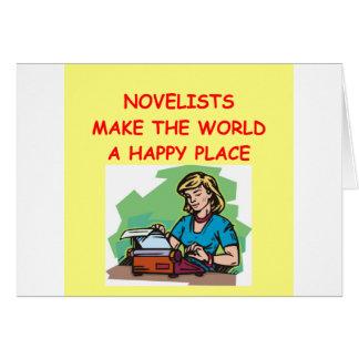 novelist card
