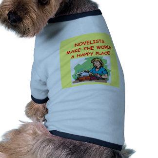 novelist doggie tshirt