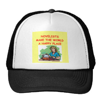 novelist trucker hats